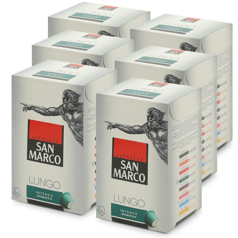 capsule nespresso compatible san marco lungo intenso 6 boites 60 capsules san marco. Black Bedroom Furniture Sets. Home Design Ideas