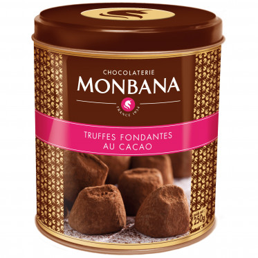 Chocolat Monbana : Truffes Fondantes au Cacao - 250 gr
