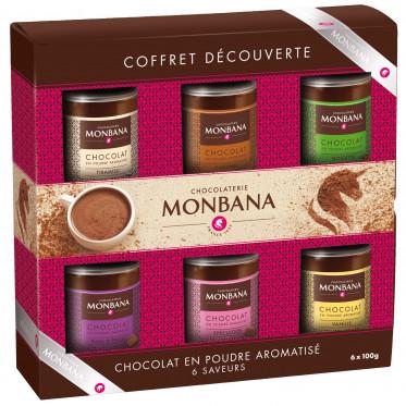 Chocolats chauds Monbana : Coffret Découverte de 6 recettes - 6 x 100 gr