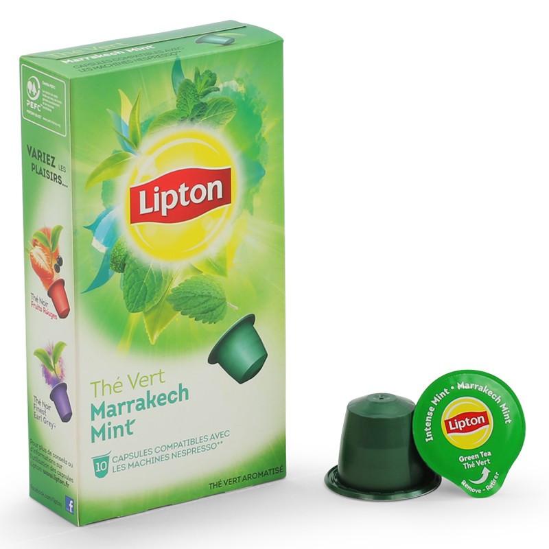 capsule nespresso compatible lipton th vert menthe marrakech 12 boites 120 capsules. Black Bedroom Furniture Sets. Home Design Ideas