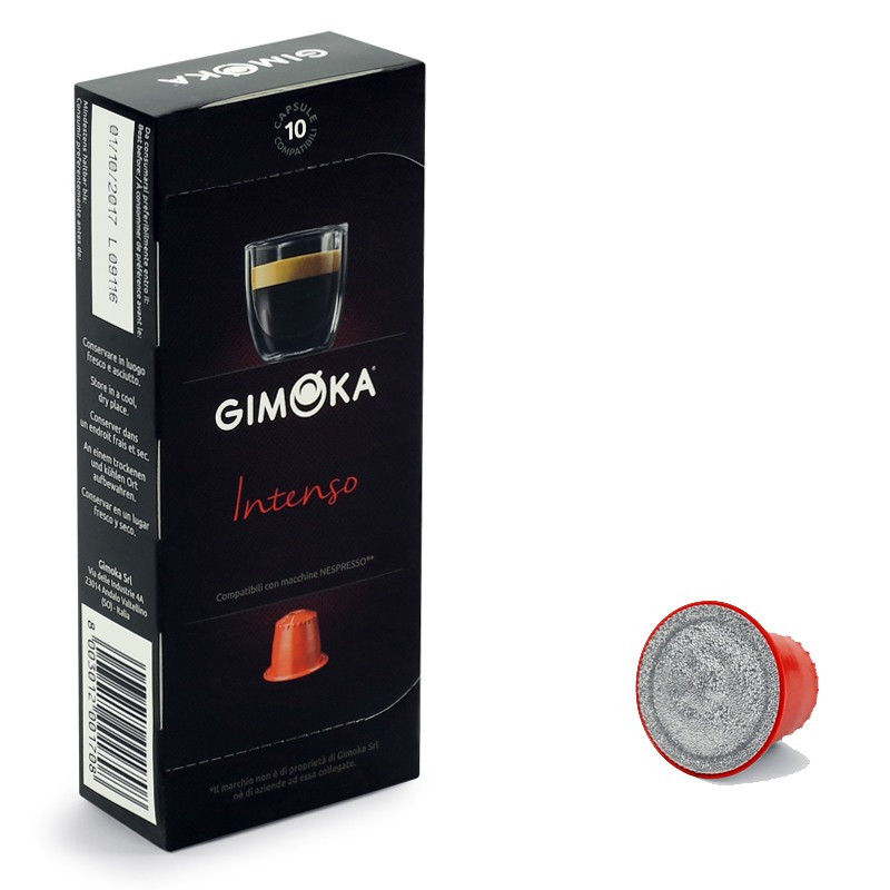 capsule nespresso compatible gimoka intenso 5 boites 50 capsules. Black Bedroom Furniture Sets. Home Design Ideas