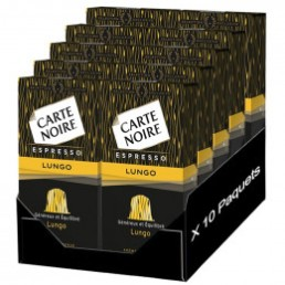 "Capsule Nespresso Compatible Carte Noire n°8 Café Lungo ""Fortissime"" 10 boites - 100 Capsules"