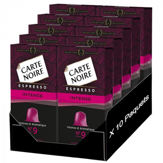 capsule nespresso compatible carte noire n 9 espresso intense 100 capsules. Black Bedroom Furniture Sets. Home Design Ideas