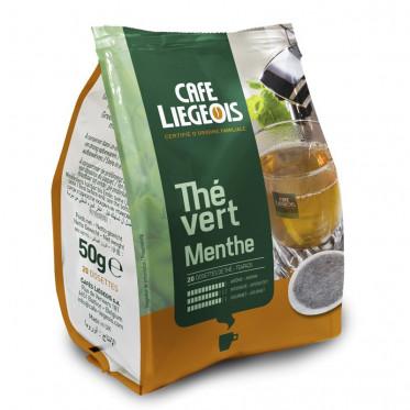 Dosette Souple Café Liegeois Thé vert Menthe - 20 pads