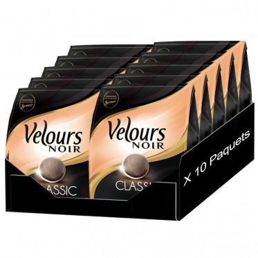 Dosette Souple Velours Noir Classique 10 paquets- 320 pads