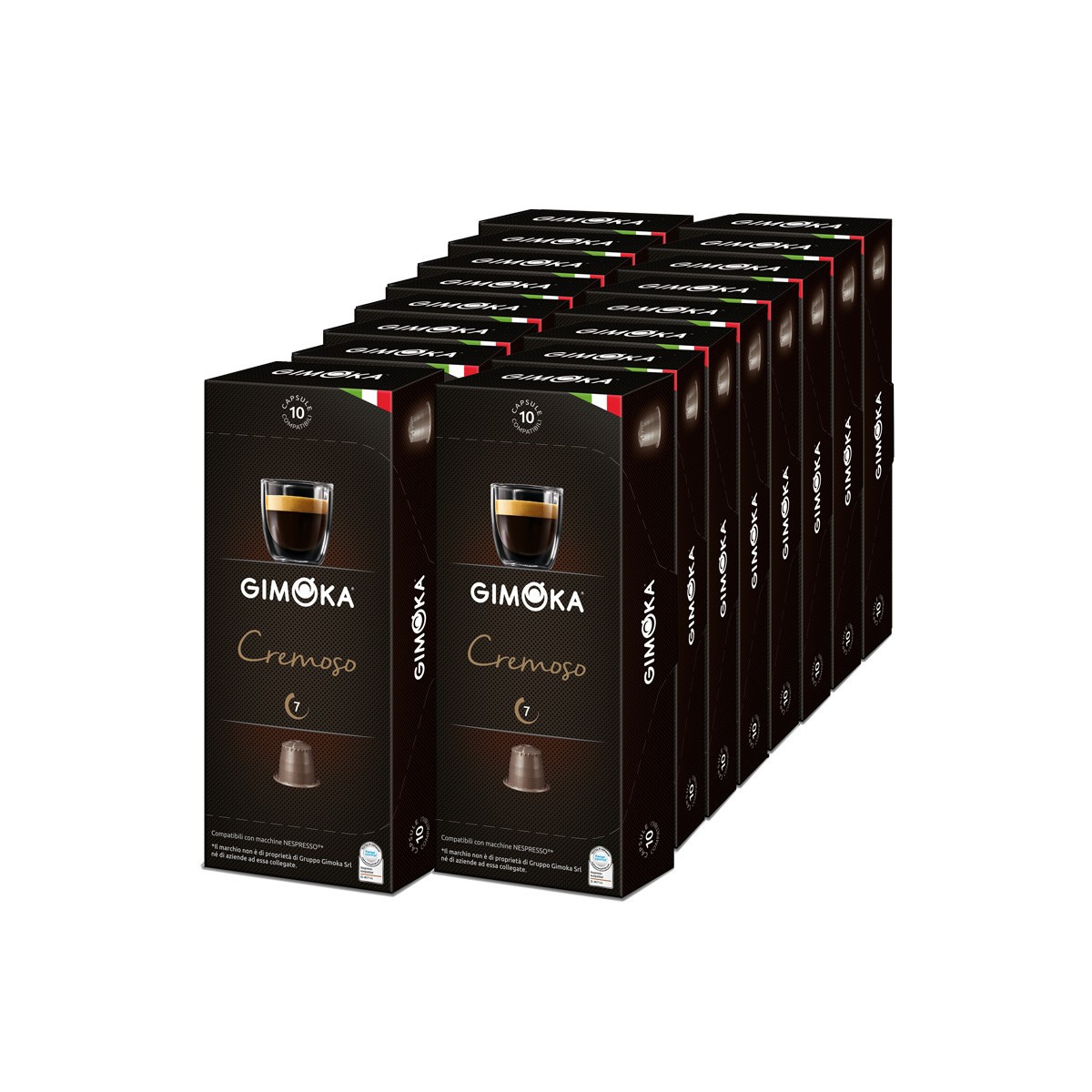 capsule nespresso compatible gimoka cremoso 20 boites 200 capsules. Black Bedroom Furniture Sets. Home Design Ideas