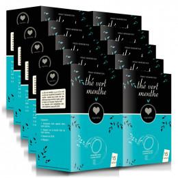 Capsule Lavazza Blue Compatible Inspiration Thé Vert Menthe - 10 boites - 150 capsules