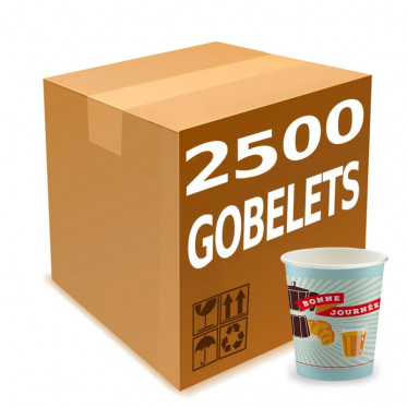 Gobelet Distributeur Automatique en Carton 15 cl - French Collection Vintage - par 2500