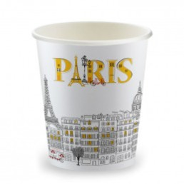 Gobelets Distributeur Automatique en Carton 15 cl - French Collection Paris - par 100