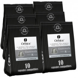 Capsules Nespresso Compatibles Orbica Guatemala - 6 paquets - 60 capsules