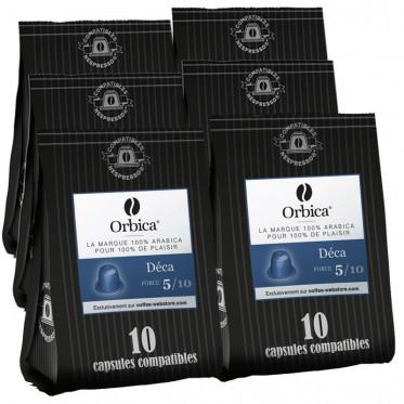 Capsules Nespresso Compatibles Orbica Deca - 6 paquets - 60 capsules