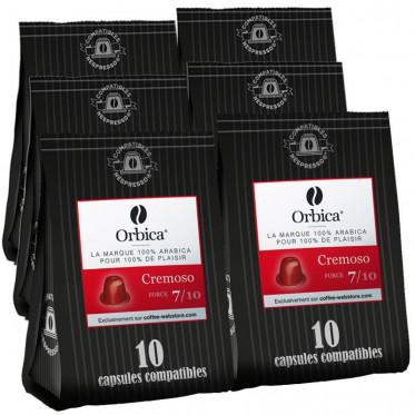 Capsules Nespresso Compatibles Orbica Cremoso - 6 paquets - 60 capsules