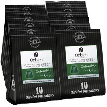 Capsules Nespresso Compatibles Orbica Colombie - 12 paquets - 120 capsules