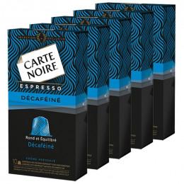 Capsule Nespresso Compatible Carte Noire Espresso Déca 5 boites - 50 Capsules