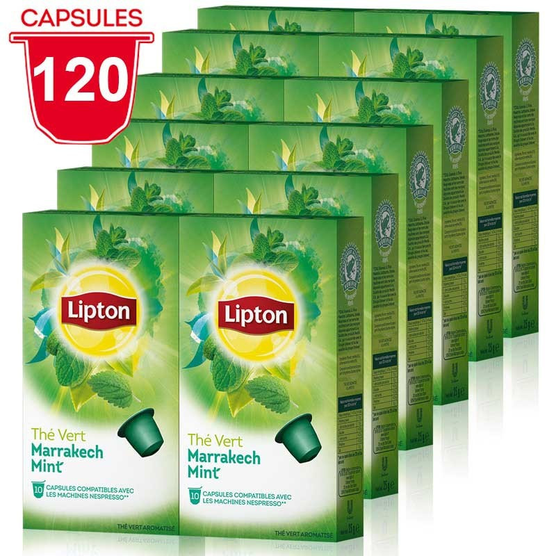 Capsule nespresso compatible lipton th vert menthe marrakech 12 boites 120 capsules - Capsule to by lipton ...