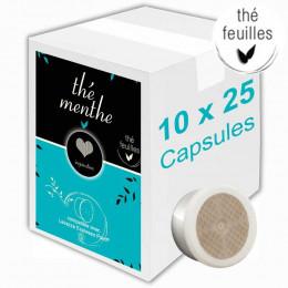 Capsule  Lavazza Espresso Point Compatible Inspiration Thé Menthe - 10 boites - 250 capsules