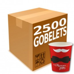 Gobelets en Carton 15 cl - French Collection Pere Noel - par 2500