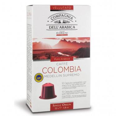 capsule nespresso compatible cie dell 39 arabica colombia 10 capsules coffee webstore. Black Bedroom Furniture Sets. Home Design Ideas