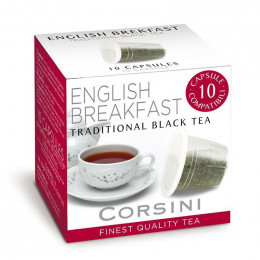 Capsule Nespresso Compatible Corsini Thé English Breakfast - 10 capsules