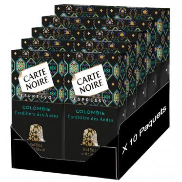 Capsule Nespresso Compatible Carte Noire Cordillere Des Andes Colombie - 10 boîtes - 100 Capsules