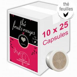 Capsule Lavazza Espresso Point Compatible Inspiration Thé aux Fruits Rouges - 10 boîtes - 250 capsules