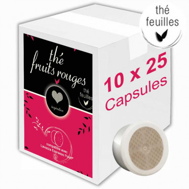 Capsule Lavazza Espresso Point Compatible Inspiration Thé aux Fruits Rouges - 10 boîtes - 250 capsules