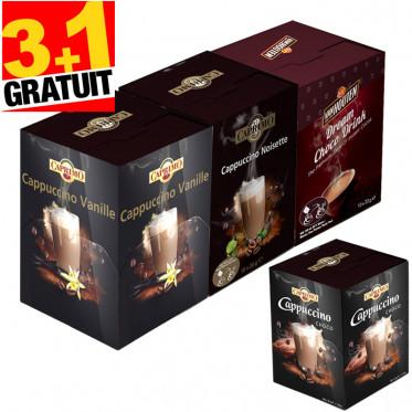 Pack Boissons Gourmandes : Cappuccino Caprimo et Chocolat Chaud Van Houten - 400 dosettes