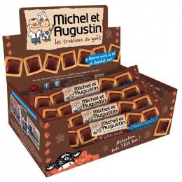 4 Petits Carrés À La Queue Leu Leu Au Beurre, Pointe De Sel Et Chocolat Noir - Carton 18 Pièces