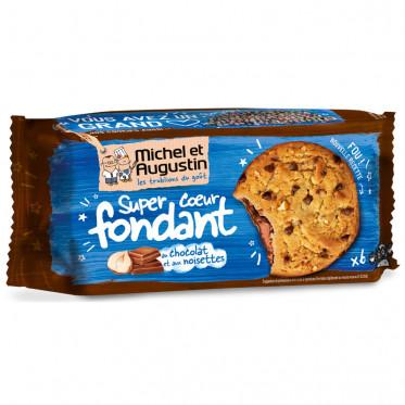 Super Cookies Coeur Fondant au Chocolat Lait et Noisettes - 180 gr