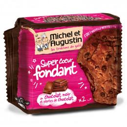 Super Cookies Coeur Fondant au Chocolat Noir et Pépites de Chocolat - 180 gr