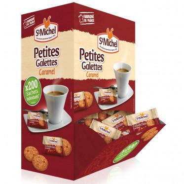 Boite Distributrice Biscuits : St Michel Petites Galettes au Caramel - 200 pièces