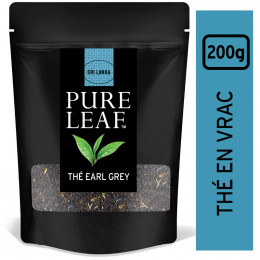 Thé Noir Pure Leaf Earl Grey - En Vrac - Poche 200 gr
