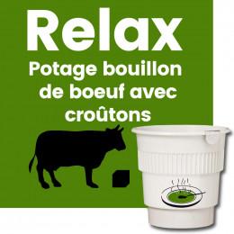 Gobelet Pré-dosé Potage Bouillon de Boeuf Avec Croutons - 20 boissons