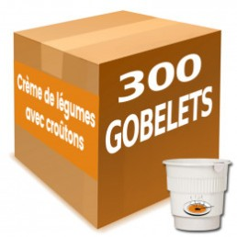 Gobelet Pré-dosé Crème de Légumes avec Croutons - Carton 300 boissons