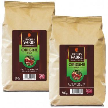 Café en Grains Jacques Vabre Origine Brésil - 500 gr