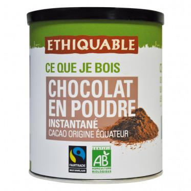Chocolat Chaud en Poudre Sucré Éthiquable Équateur Haïti - Boîte 400 gr