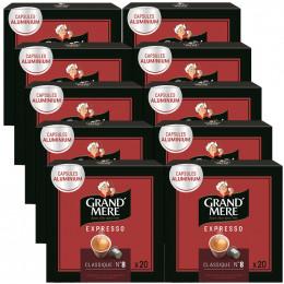 Capsule Nespresso Compatible Grand'Mère Classique - 10 boîtes - 200 capsules