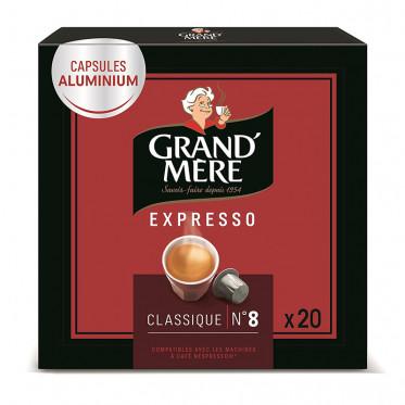 Capsule Nespresso Compatible Grand'Mère Classique - 1 boîte - 20 capsules