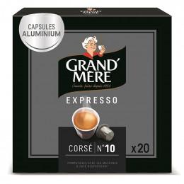 Capsule Nespresso Compatible Grand'Mère Corsé - 1 boîte - 20 capsules