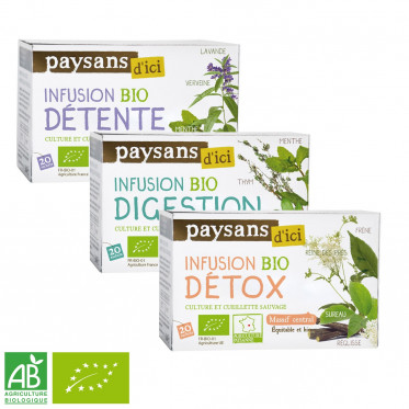 Infusion Éthiquable Bio Détox - 20 sachets