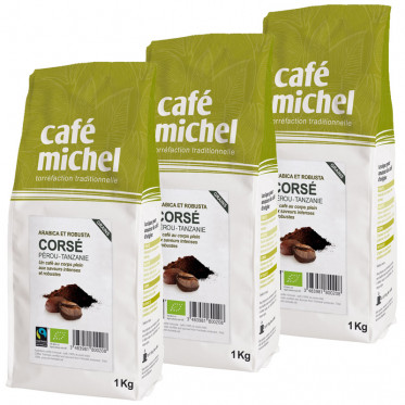 Café en Grains Mélange Corsé - Café Michel - 3 kg