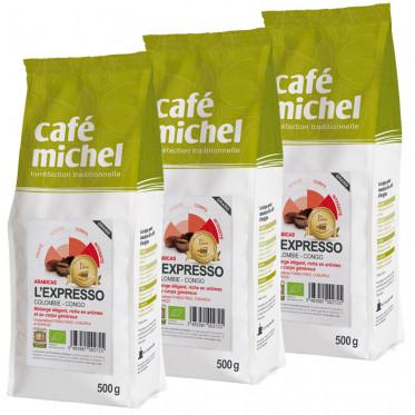 Café en Grains L'Expresso - Café Michel - 3 kg