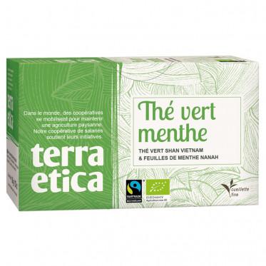 Thé Vert Menthe - Origine Vietnam - Terra Ética - 20 sachets