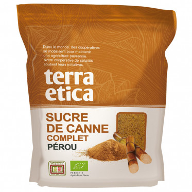 Sucre Complet de Canne Terra Etica Origine Pérou - Poche 500 gr