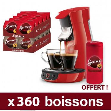 Machine Philipps Senseo avec Dosettes de café : 360 boissons