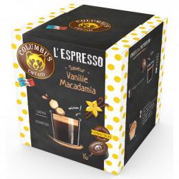 Capsule Dolce Gusto Compatible Café Espresso Saveur Vanille Macadamia - Columbus Café - 16 capsules