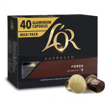Capsule Nespresso Compatibles L'Or Espresso Forza - Maxi Pack - 40 capsules