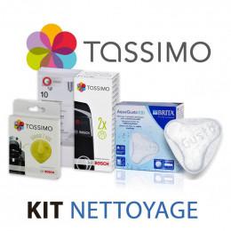 Kit entretien Machine à café TASSIMO - Nettoyage, détartrage, filtre à eau, T-disc jaune