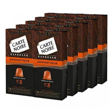 "Capsule Nespresso Compatible Carte Noire n°8 Café Espresso ""Aromatique"" 5 boites - 50 Capsules"
