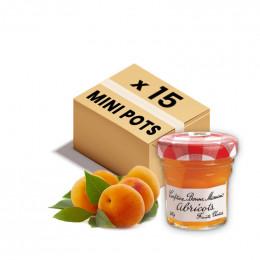 Confiture Bonne Maman - Mini pot en verre de confiture d'Abricot - 15x 30g
